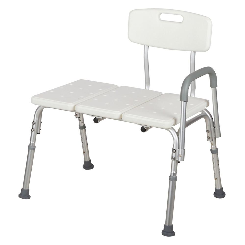Plastic Tub Transfer Bench with Adjustable Backrest Medical Bath ...