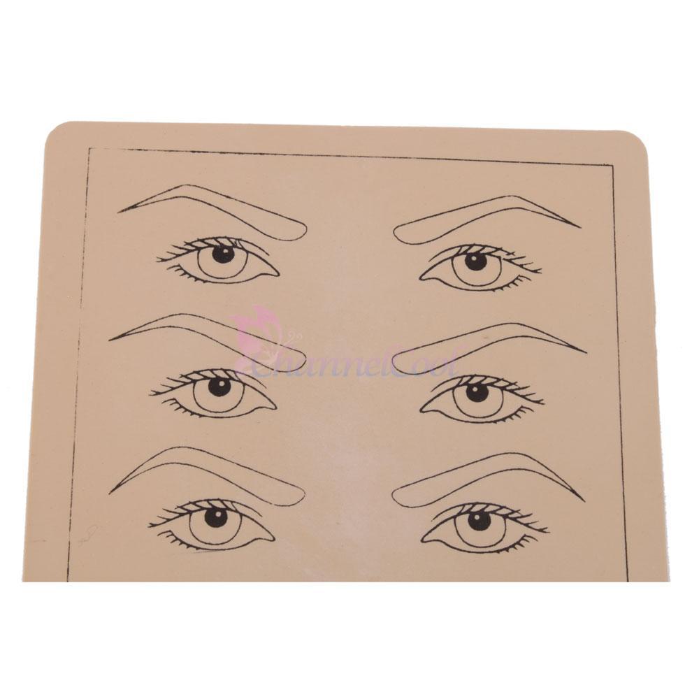 5pcs eyebrow lips design sheets tattoo practice skin for needle machine 8 x 6 ebay. Black Bedroom Furniture Sets. Home Design Ideas